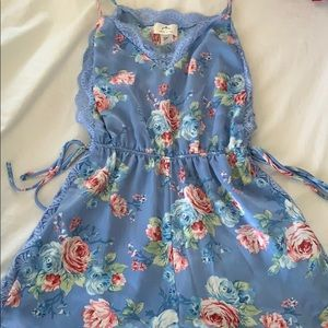 Floral silky romper from forever 21